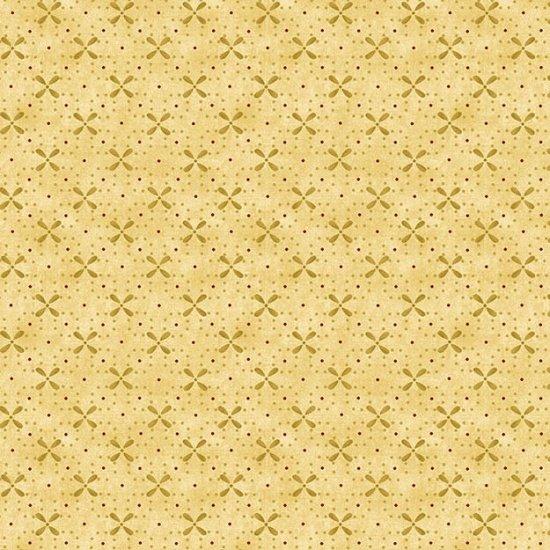 6560-33 Cream Dot_X Design Butter Churn Basics by Kim Diehl for Henry Glass