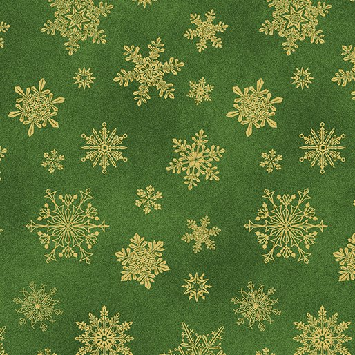 6747M-45 Dk Green Playful Flakes Catitude Christmas