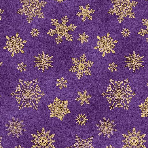 6747M-66 Purple Playful Flakes Catitude Christmas