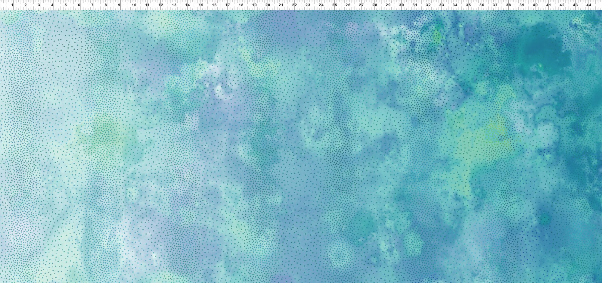 6ENC-2 Teal Mist Ombre Diaphanous