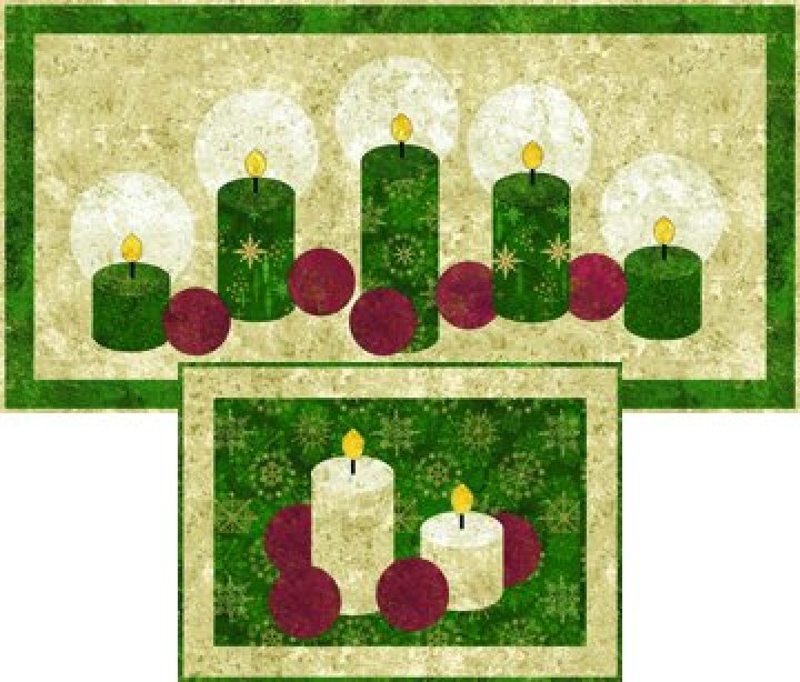 PTN822K Holiday Lights PlaceMat Kit (makes 4 placemats)