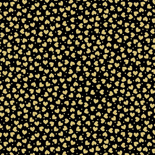 7717M-99 Black w_Hearts Gold Metallic Mixers