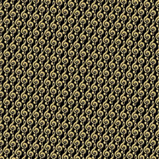 7722M-99 Black G Clef Gold Metallic Mixers