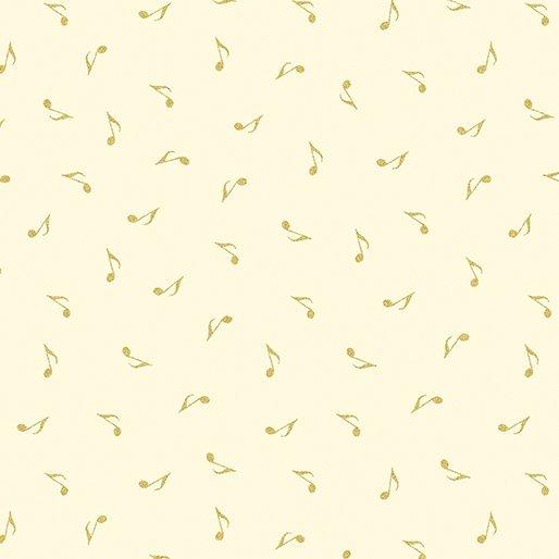 7723M-07 Cream Music Notes Gold Metallic Mixers