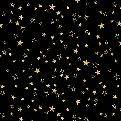7730M-99 Black Stars Gold Metallic Mixers