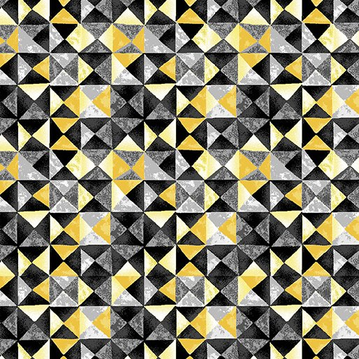 7741P-33 Yellow Charcoal Mosaic Limoncello