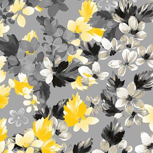 7742P-11 Dove Gray Bouquet Limoncello