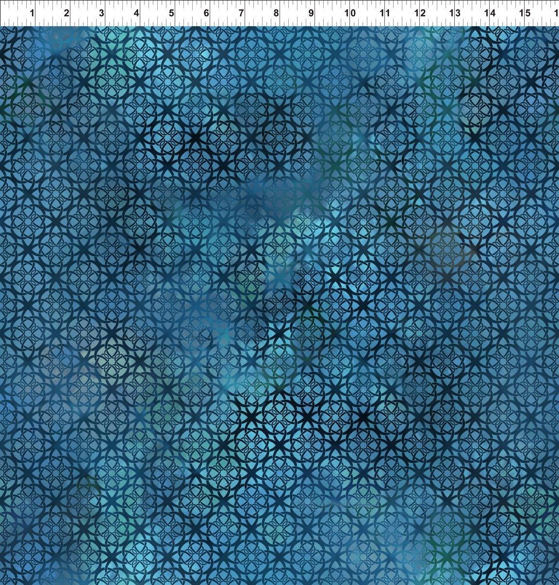 7ENC-3 Turquoise Trellis Diaphanous
