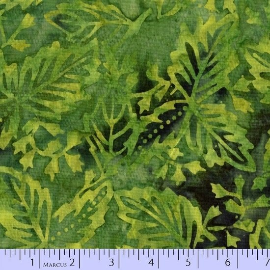 8031-0114 Green Leaves Sea Graphic Gems SarahJ