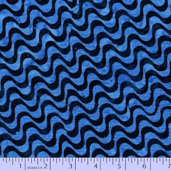 8044-0110 Blue_Blk Wavy Lines Sea Graphic Gems SarahJ