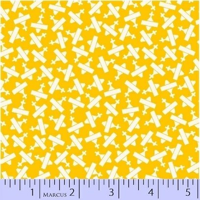 8080-0333 Yellow Planes Aunt Grace Basket of Scraps Marcus Fabrics