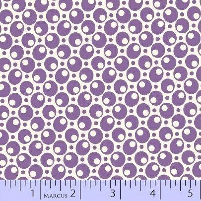 8082-0335 Purple Bubbles Aunt Grace Basket of Scraps