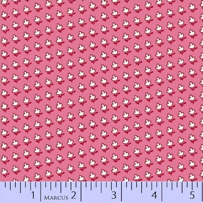 8085-0326 Pink Floral Aunt Grace Basket of Scraps Marcus Fabrics