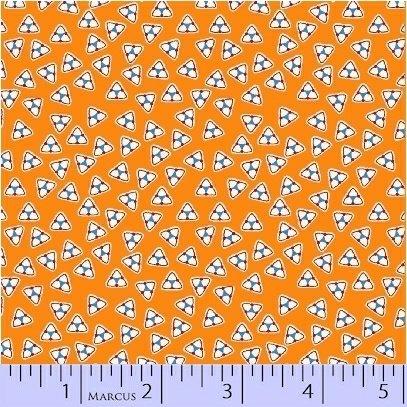 8088-0328 Orange Triangles Aunt Grace Basket of Scraps