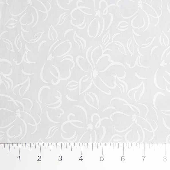 81200-10 Lg Floral White on White