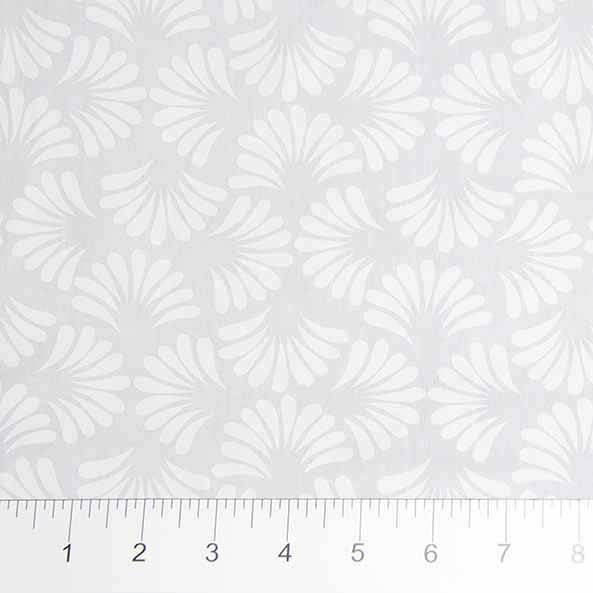 81202-10 Feather Tails White on White Banyan Batiks
