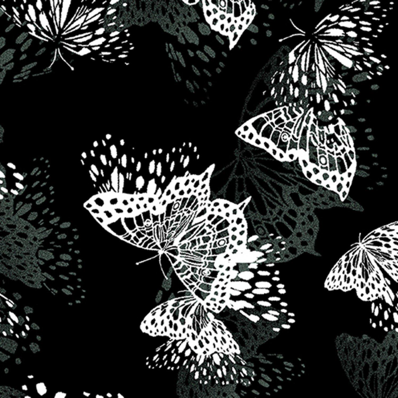 8266B-12 Midnight Butterfly Black Flight of Fancy
