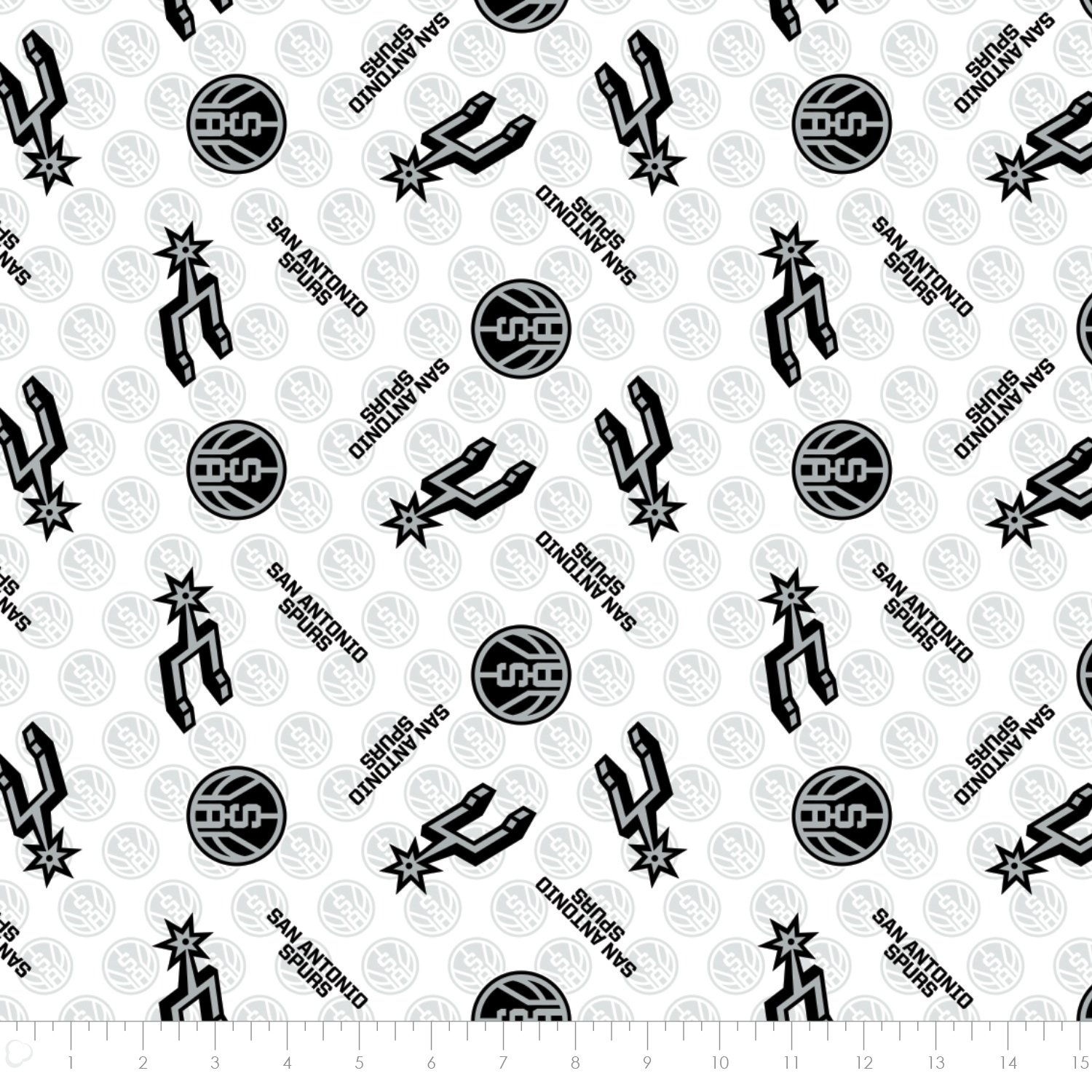83sas0002_1 San Antonio Spurs Quilting Fabric