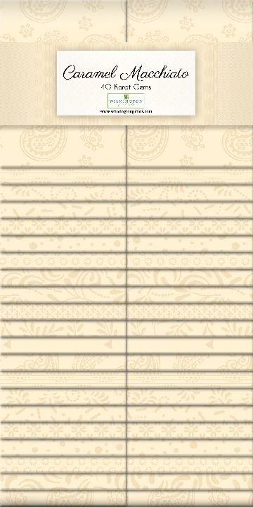 842 38 842 Caramel Macchiato 2.5 inch Strips Wilmington Prints