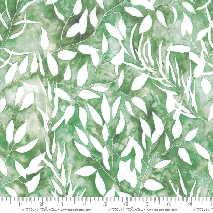 8431 13D Leaf Green w_White Leaves Brightly Blooming Create Joy Project