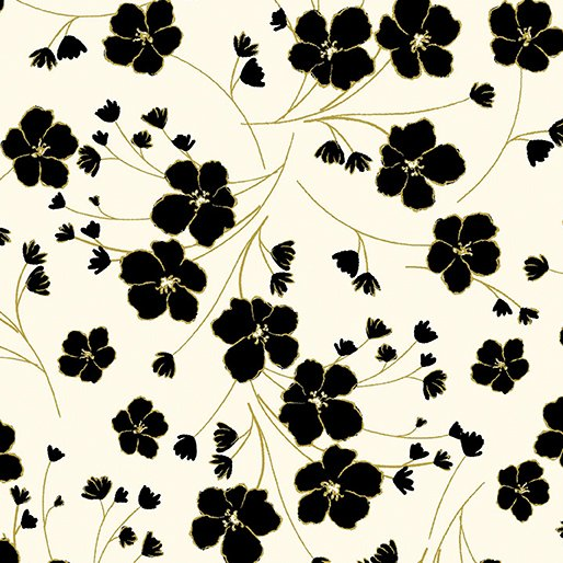 8634M-07 Cream Garden Silhouette New Traditions Kanvas Studios