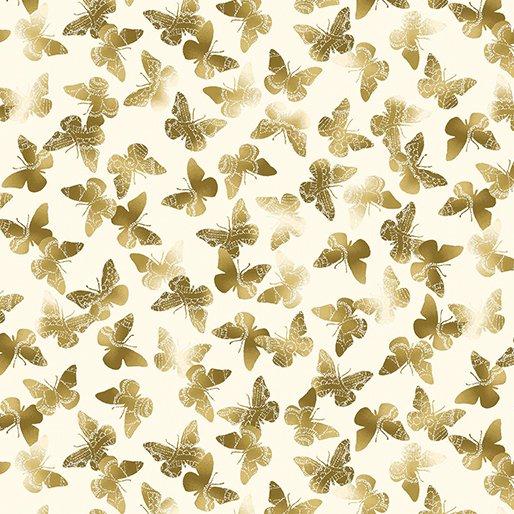 8636M-07 Cream Butter Flutter New Traditions Kanvas Studios
