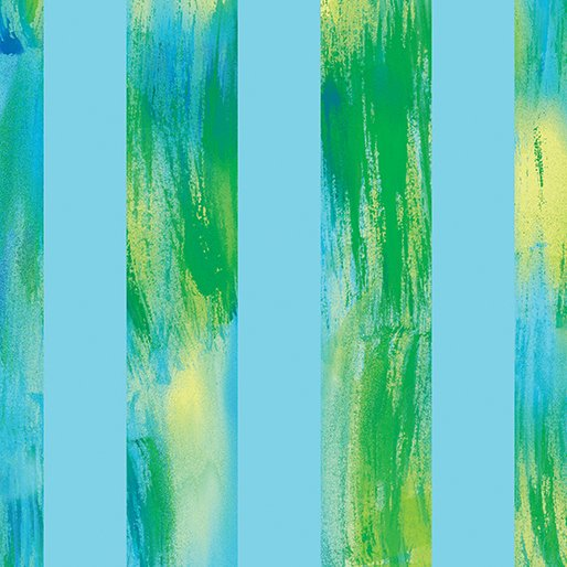 8743-05 Lt Blue Waterccolor Stripe Sun Burst