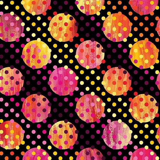 8744-12 Black Dot on Dot Sun Burst