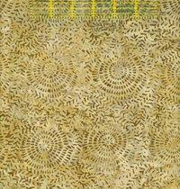 BE11_5B Tan Circular Leaves Island Batik