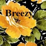 BREE_330_O Breezy Yellow Flowers on Black P&B Textiles