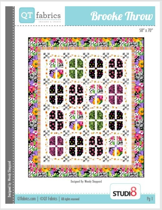 Brooke Throw Quilt 58 X 70 featuring Brooke by QT Fabrics