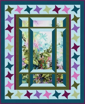 bs2-425 Modern Window 2 with Star Border