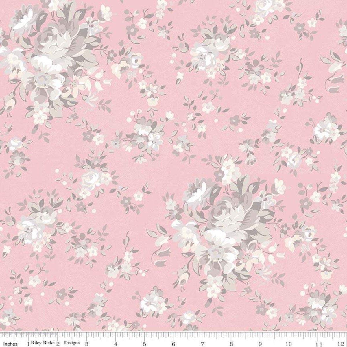 C7680-PINK_Main Floral Rose Garden
