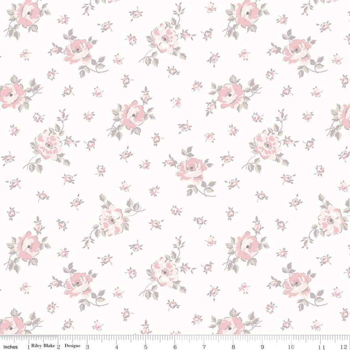 C7685-CREAM_Floral Toss Rose Garden