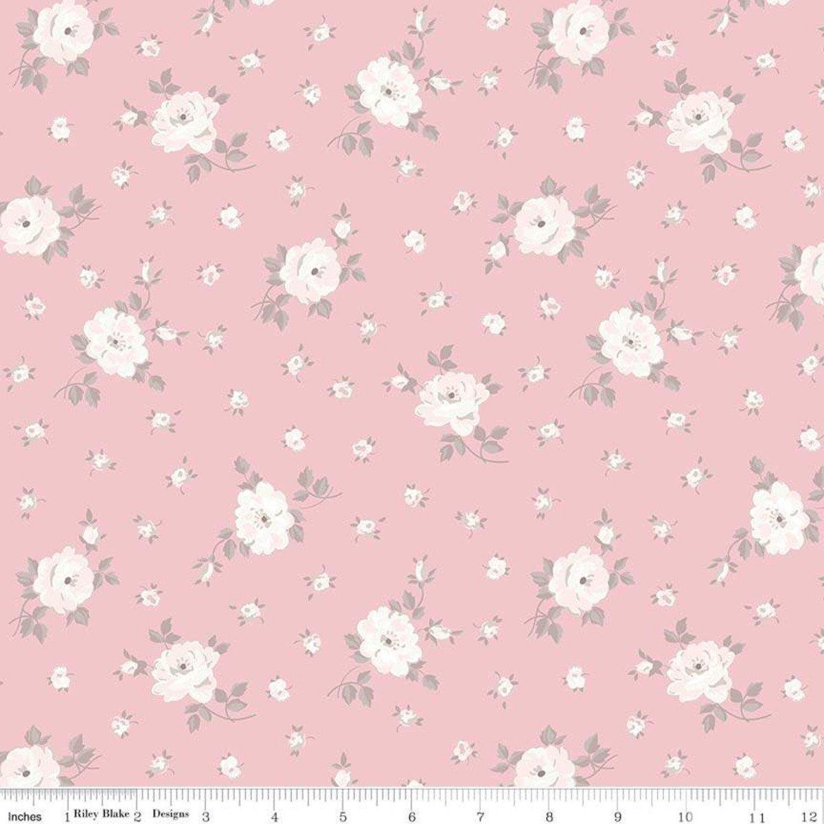 C7685-PINK_Floral Toss Rose Garden