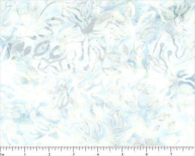 CD-02063-218 Off White w_Gray Leaves Komo Batiks