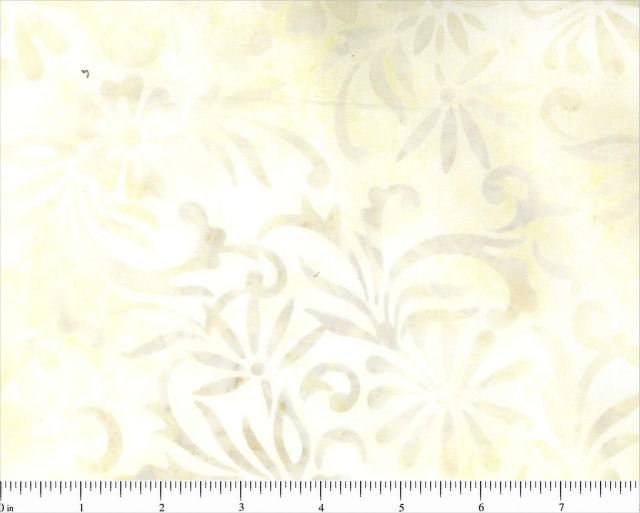 CD-02066-215 Cream w_Beige Floral Komo Batiks