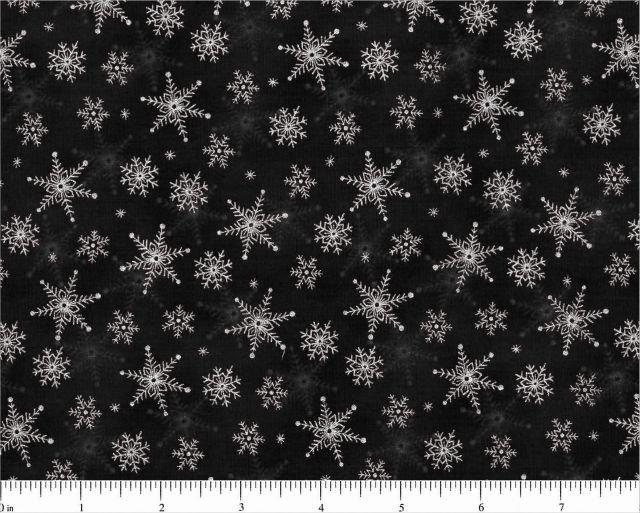 CD-10206-003 Black snowflakes Visions Choice