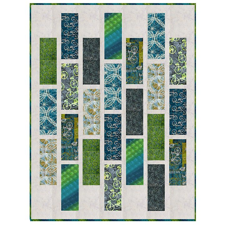 Claudette Quilt Pattern Featuring Ride On II by Banyan Batiks