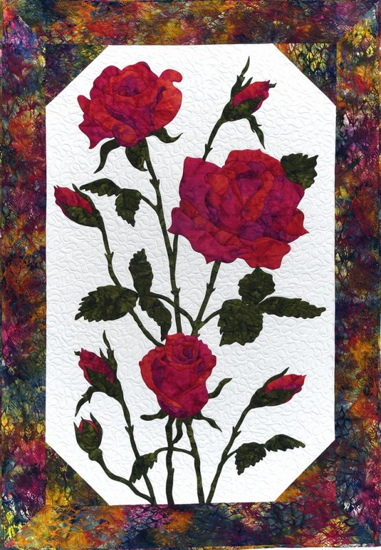 Cleo Designs  Roses in Red Laser Cut Kit Complete