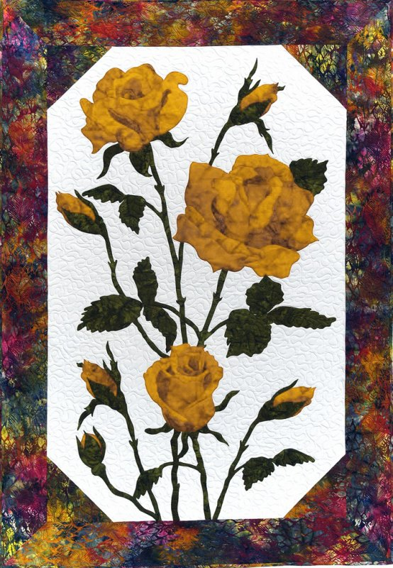 Cleo Designs  Roses in Yellow Laser Cut Kit only