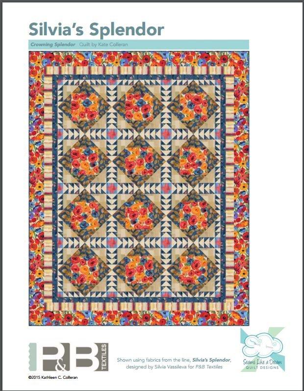 Crowning Splendor featuring Silvia's Splendor Fabrics by P&B Textiles