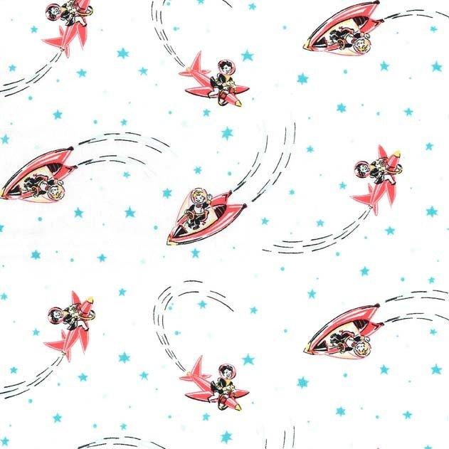 cx7631_white Rocket Kids Michael Miller Fabrics