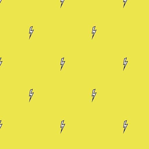 dc7857_citron Bolt Believe Michael Miller Fabrics