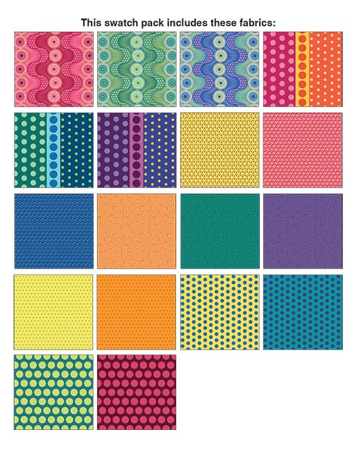 DCR10PK Dot Crazy 42 pieces 10X10 Square Pack