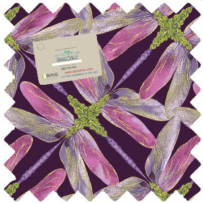 DOD10PK Dance of the Dragonfly 10 inch squares (42) Benartex