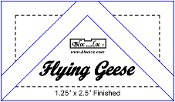 Bloc Loc FG .5 x 1 inch finished Flying Geese square up ruler