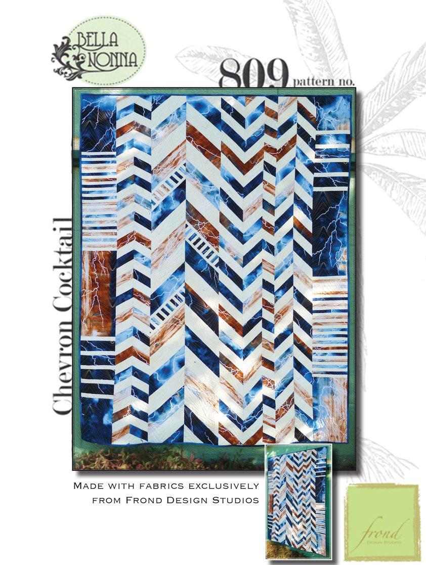 Frond ChevronCocktail Pattern_Fabric Kit