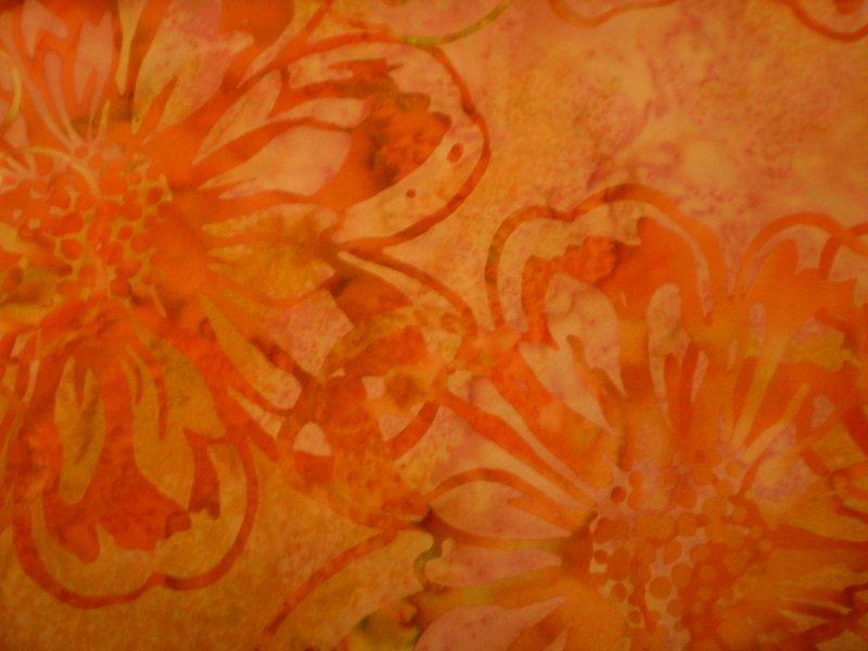 H2310-263 Shrimp Floral Hoffman Bali Batik