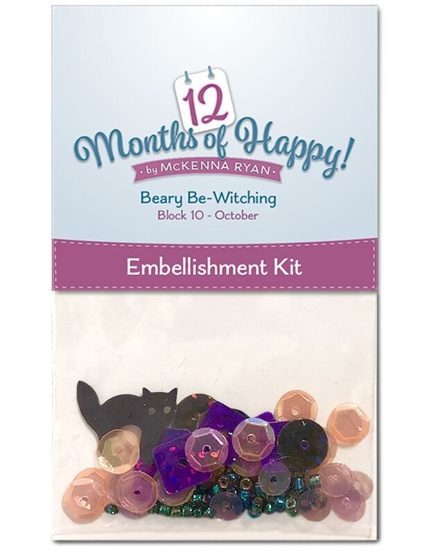 HAPPY21 - Oct blk 10 Beary Be-Witching Embellishment_12 Mos of Happy
